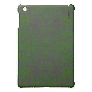 Étuis iPad Mini Cas   dur de HAMbyWG - vert affligé
