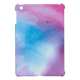 Étuis iPad Mini Couleur pour aquarelle de marbre rose et bleue