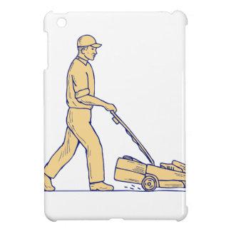 Étuis iPad Mini Dessin de fauchage de tondeuse à gazon de