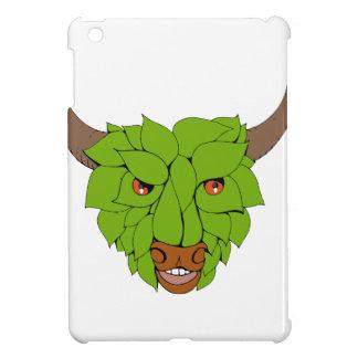 Étuis iPad Mini Dessin principal vert de Taureau