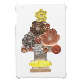 Étuis iPad Mini Dos de Je-Protection d'arbre de Noël de Steampunk