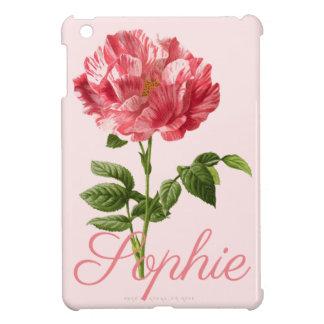 Étuis iPad Mini Fleur rose vintage/victorienne Personnalised