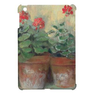 Étuis iPad Mini Géraniums dans des pots