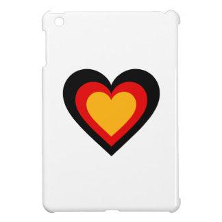 Étuis iPad Mini L'Allemagne/coeurs drapeau-inspirés allemands