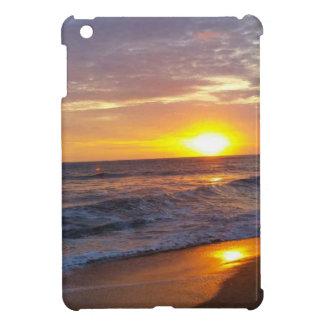 Étuis iPad Mini Lever de soleil externe de banques de lever de