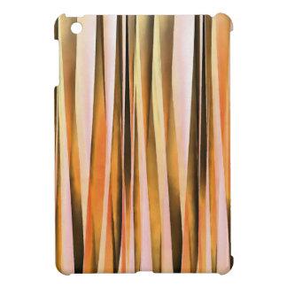 Étuis iPad Mini Lignes rayées oranges motif d'automne de Brown et