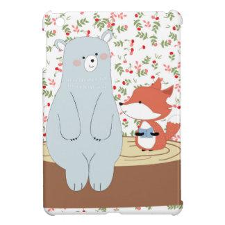 Étuis iPad Mini Loup mignon vintage de renard d'été de ressort et