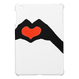 Étuis iPad Mini main heart2