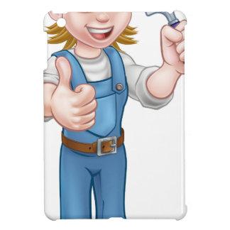 Étuis iPad Mini Mascotte de jardinière de femme de bande dessinée