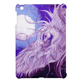 Étuis iPad Mini Mignon pourpre magique de lune de licorne de noir