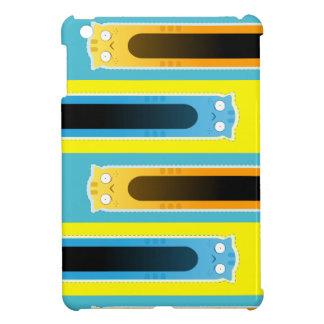 Étuis iPad Mini Mini cas de gingembre de chat d'iPad bleu de motif