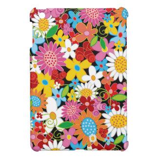 Étuis iPad Mini Mini cas de ressort de fleurs d'iPad lunatique de