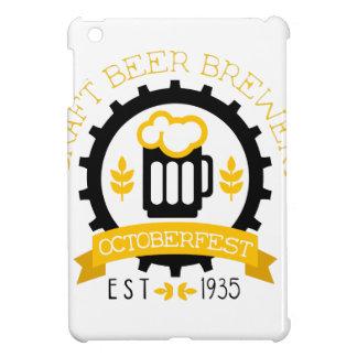 Étuis iPad Mini Modèle de conception de logo de bière avec la