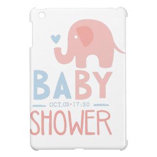 Étuis iPad Mini Modèle de conception d'invitation de baby shower