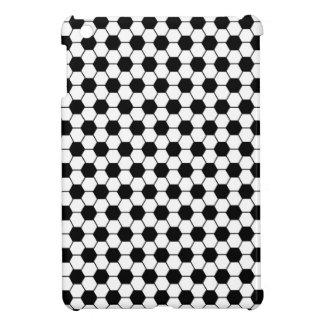 Étuis iPad Mini Motif de football en noir et blanc