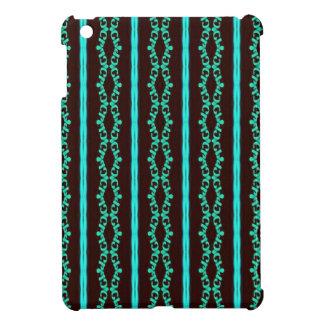 Étuis iPad Mini Motif rayé turquoise au néon moderne