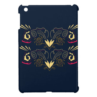 Étuis iPad Mini Ornements peints à la main de luxe