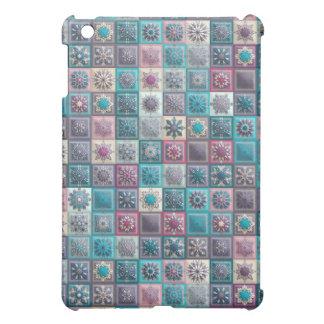 Étuis iPad Mini Patchwork vintage avec les éléments floraux de
