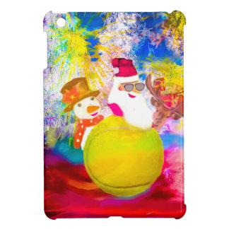 Étuis iPad Mini Père Noël et ses amis apprécient la saison