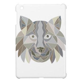Étuis iPad Mini Polygone de tête de chat de Lynx bas