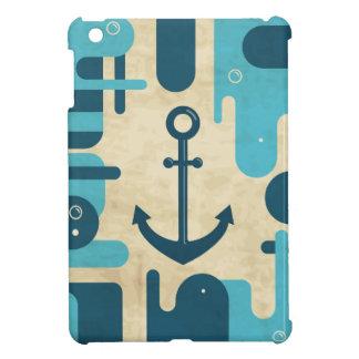 Étuis iPad Mini Rétro conception nautique turquoise d'ancre