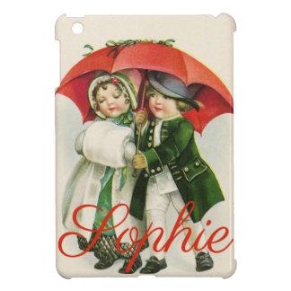 Étuis iPad Mini Scène vintage/rétro Personnalised de Noël