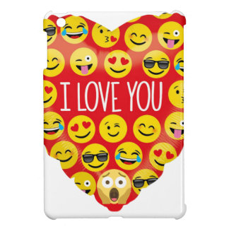 Étuis iPad Mini Stupéfier je t'aime le cadeau d'Emoji