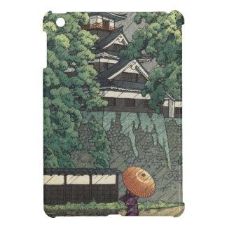 Étuis iPad Mini Tour d'Udo, château de Kumamoto sous la pluie -
