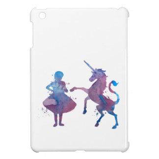 Étuis iPad Mini Une fille et une licorne