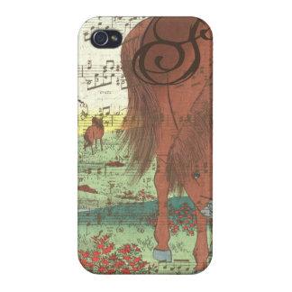 Étuis iPhone 4 Coque iphone musical de monogramme de cheval