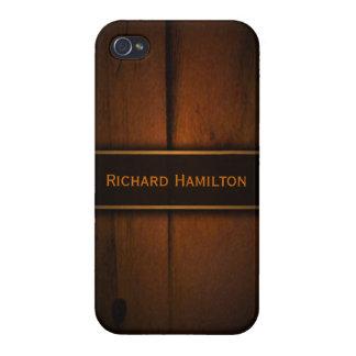 Étuis iPhone 4 iPhone intuitif en bois de Faux baltique de pin 4