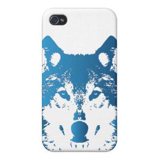 Étuis iPhone 4 Loup de bleu glacier d'illustration