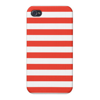 Étuis iPhone 4 Rayures rouges horizontales
