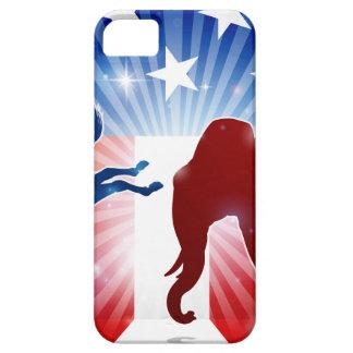 Étuis iPhone 5 Âne de combat d'éléphant de silhouette
