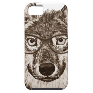 Étuis iPhone 5 Art de ballot de loup