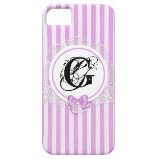 Étuis iPhone 5 Caisses roses chics modernes de cellules de
