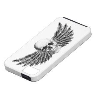 Étuis iPhone 5 Couverture mobile crâne à ailes