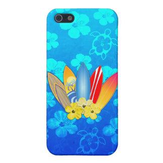 Étuis iPhone 5 Fleurs de planche de surf et de ketmie