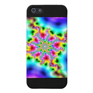 Étuis iPhone 5 fractale effets multicolores