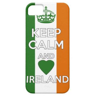 Étuis iPhone 5 Gardez le calme et aimez l'Irlande