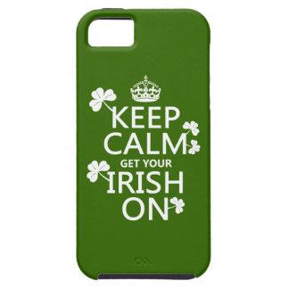 Étuis iPhone 5 Gardez le calme et obtenez votre irlandais sur