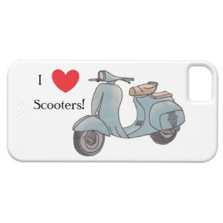 Étuis iPhone 5 J'aime des scooters ! Cas d'Iphone 5
