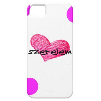 Étuis iPhone 5 Langue hongroise de conception d'amour