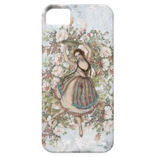 Étuis iPhone 5 Mélange floral gitan et match de danse vintage