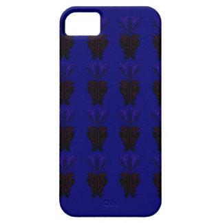 Étuis iPhone 5 Ornements bleus et noirs
