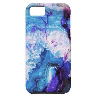 Étuis iPhone 5 Pierre gemme pourpre bleue d'agate