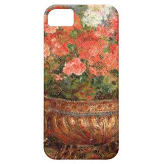 Étuis iPhone 5 Pierre géraniums de Renoir un | dans un bassin de