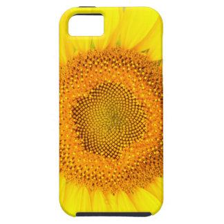 Étuis iPhone 5 Se d'iPhone de tournesol + cas dur de téléphone de