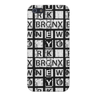 Étuis iPhone 5 Typographie grunge de Bronx New York |