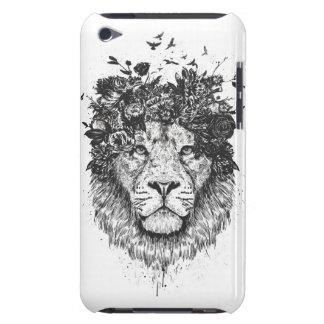 Étuis iPod Touch Lion floral (noir et blanc)